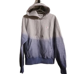 Champion Reverse Weave Ombre Blue/Grey Hoodie